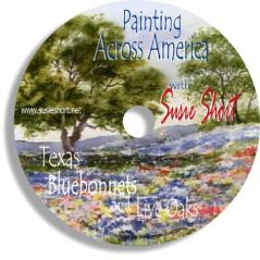 Watercolor DVD Painting Texas Bluebonnets & Live Oaks with Susie Short